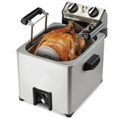 The Only Indoor Rotisserie Turkey Fryer.