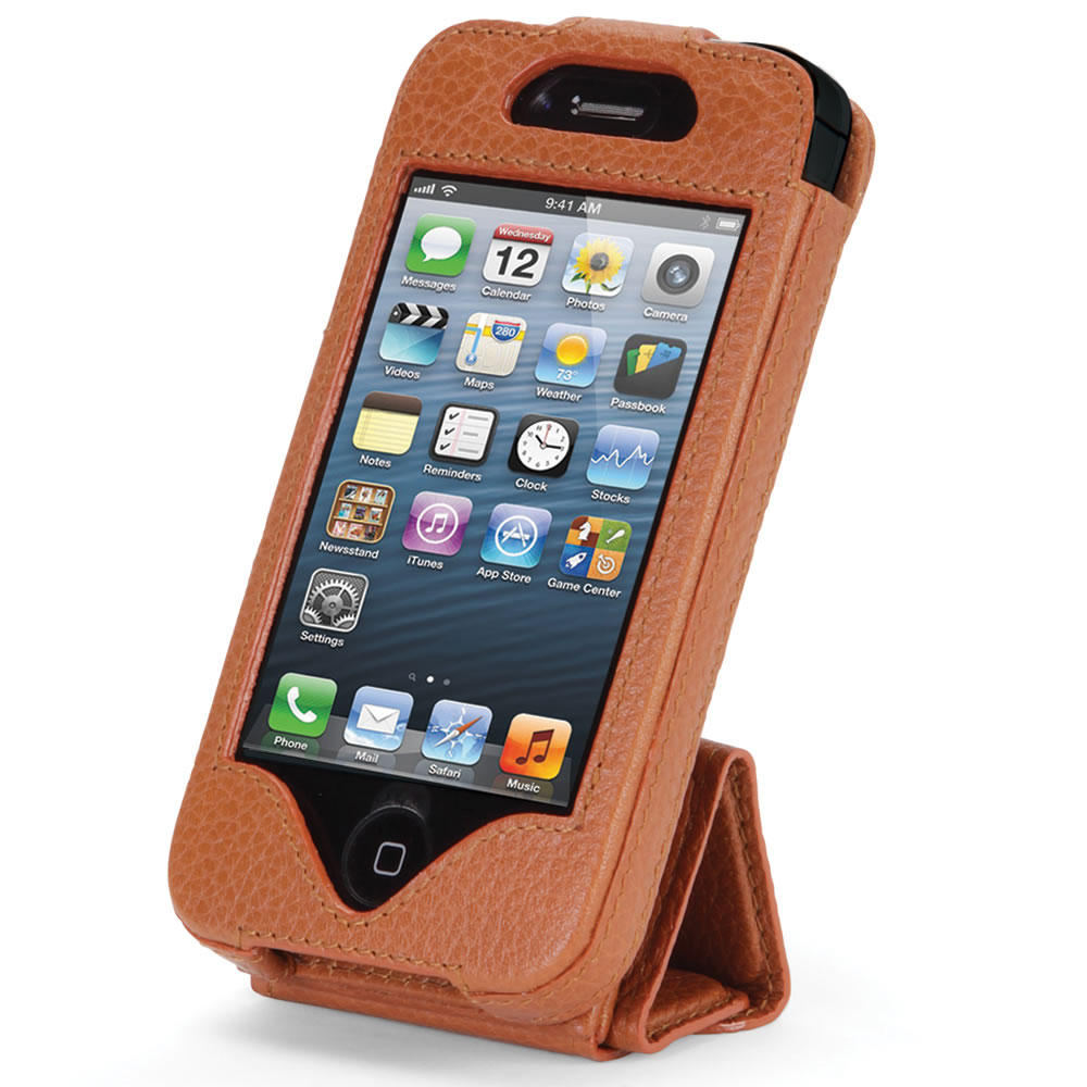 The iPhone 5 Leather Case and Stand5