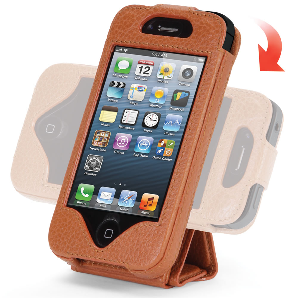 The iPhone 5 Leather Case and Stand 8