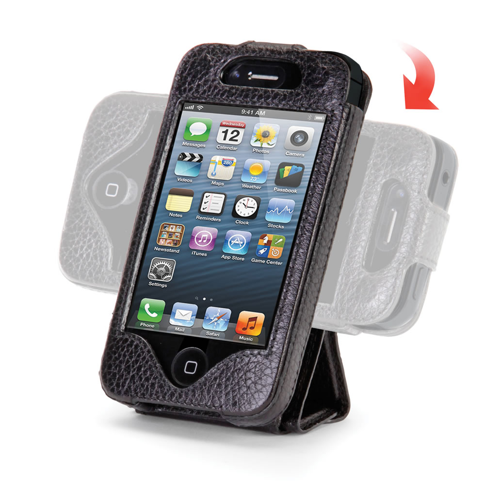 The iPhone 5 Leather Case and Stand4
