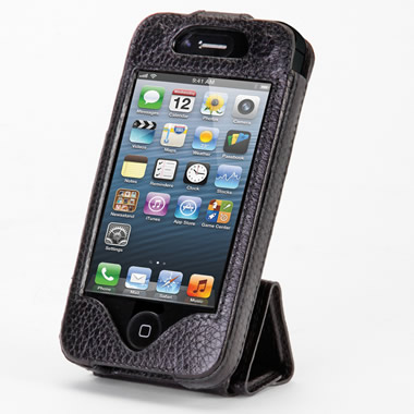 The iPhone 5 Leather Case and Stand.