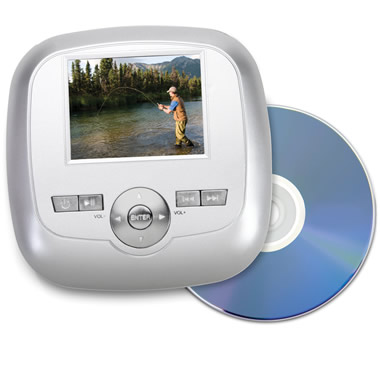 The Palm Size DVD Player.