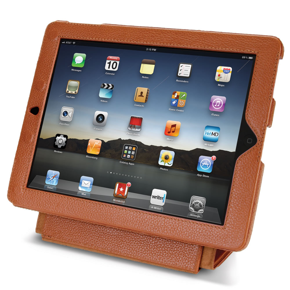 The iPad Leather Case and Stand2