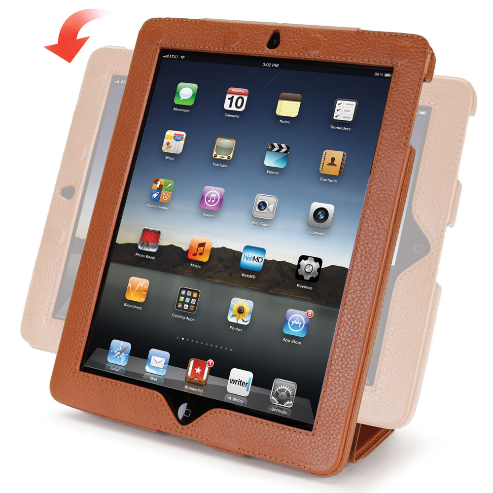 The iPad Leather Case and Stand3