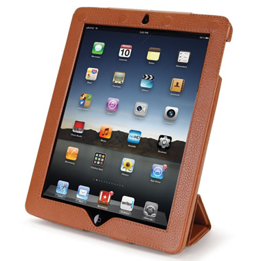 The iPad Leather Case and Stand.