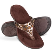The Lady's Plantar Fasciitis Faux Jeweled Sandals.