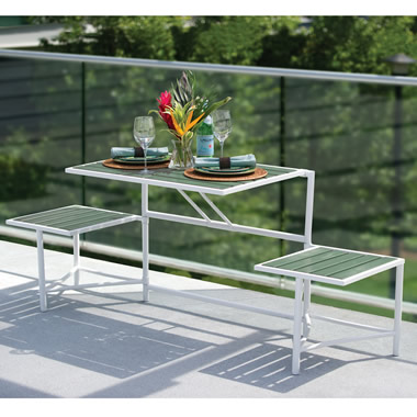 The Manhattan Balcony Convertible Bench.