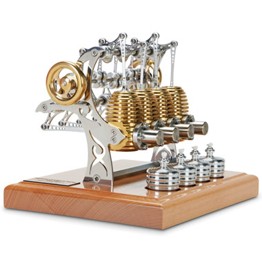 The Four Cylinder Stirling Engine.