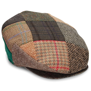 The Genuine Irish Tweed Patchwork Cap.
