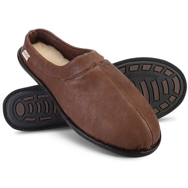 The Gentlemen's Bison Leather Slippers