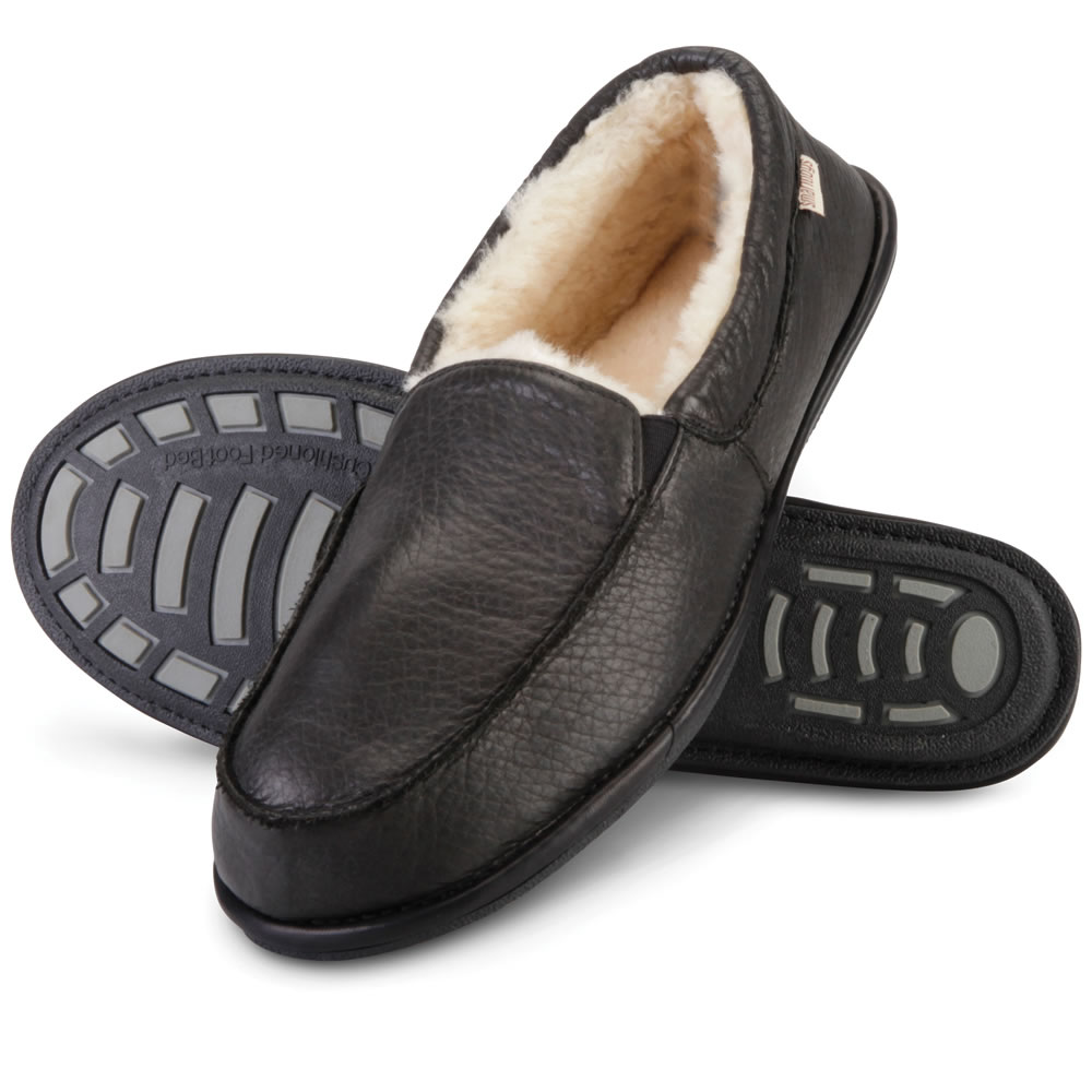The Gentlemen's Bison Leather Closed Heel Slippers 2