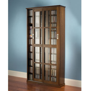 The Sliding Door 1,044 CD/468 DVD Library.