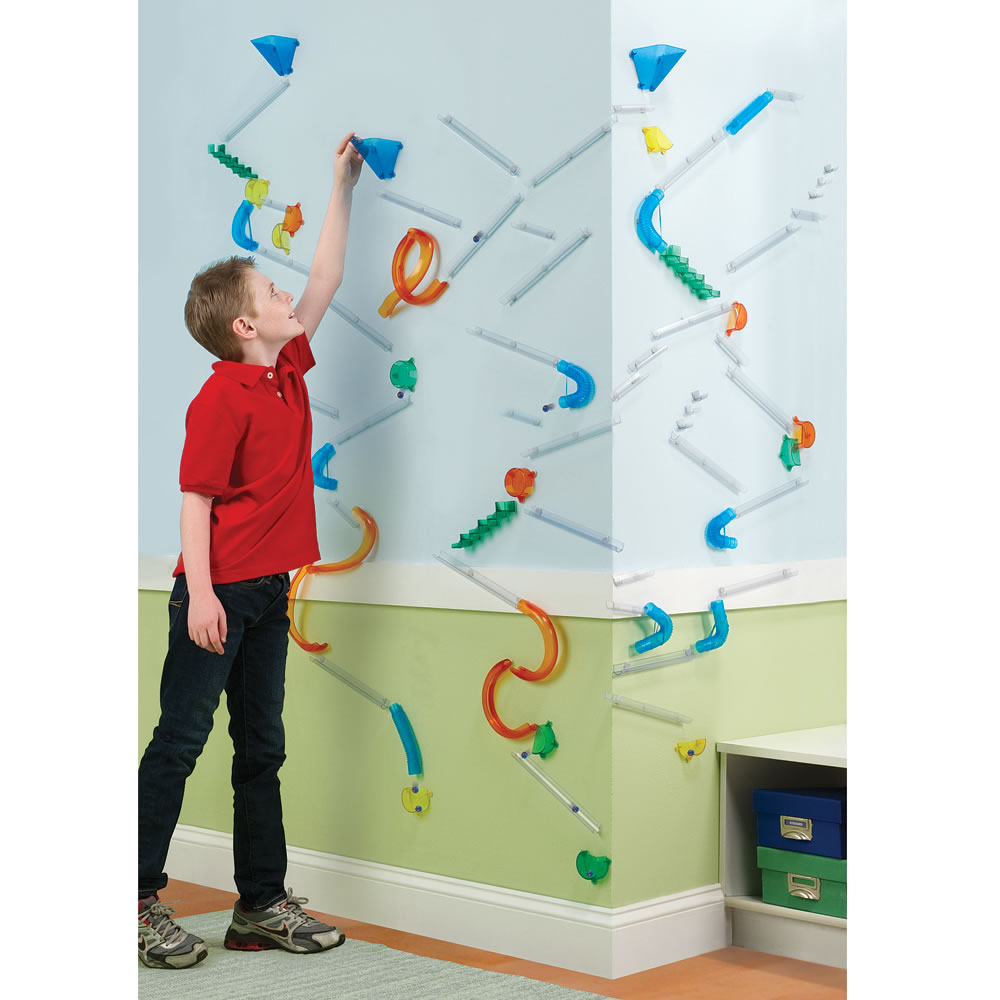 The Wall Mounted Marble Roller Coaster Hammacher Schlemmer