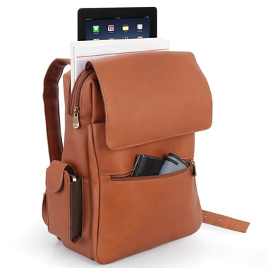 The iPad Leather Backpack.