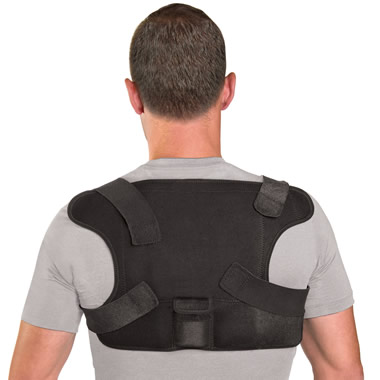 The Place Anywhere Cordless Heated Back Wrap.