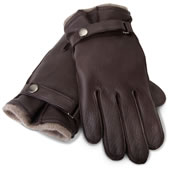 The Gentleman's Cashmere Lined Deerskin Gloves.
