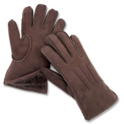 The Genuine Handsewn Shearling Gloves.
