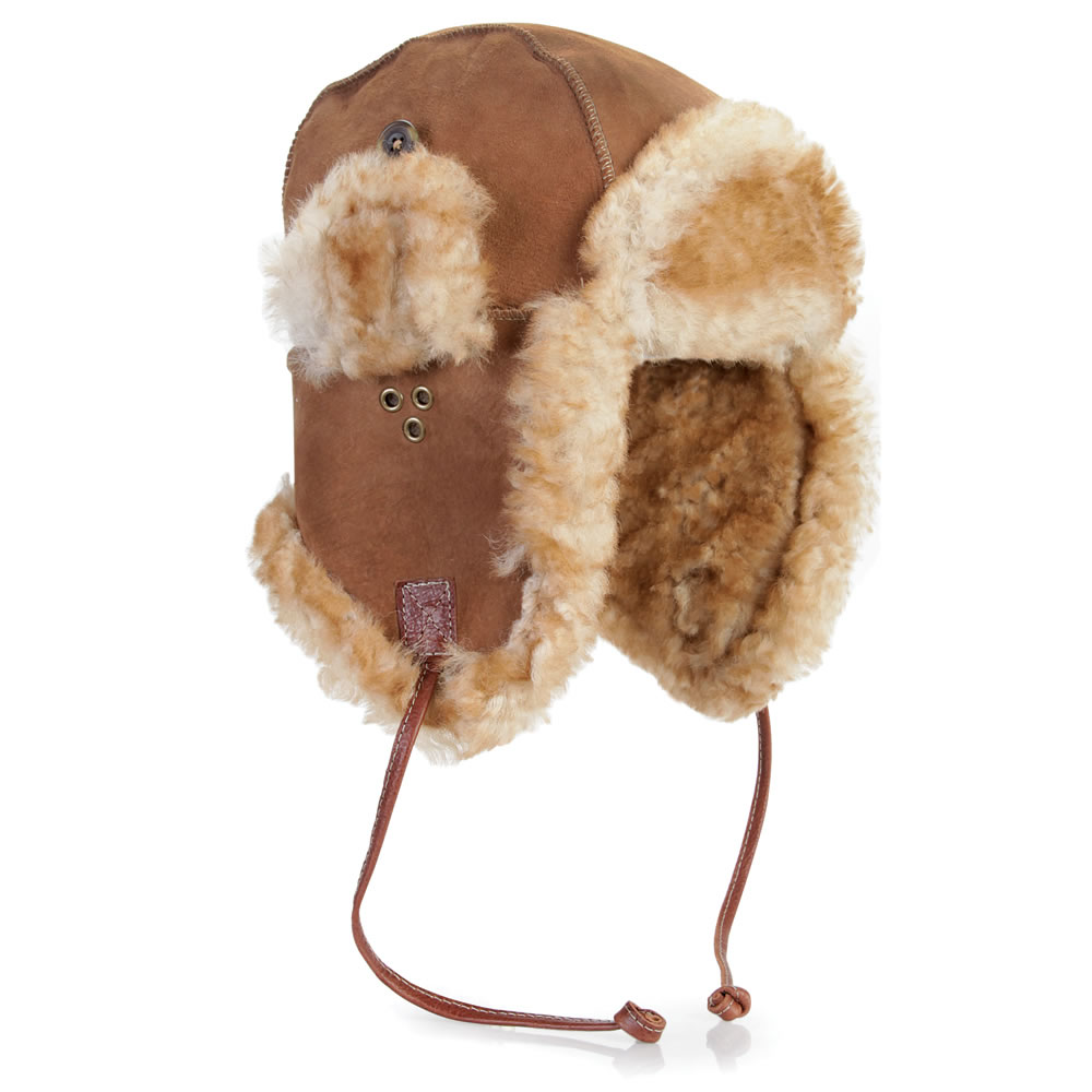 The English Shearling Trapper Hat2