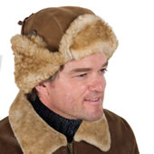 The English Shearling Trapper Hat.