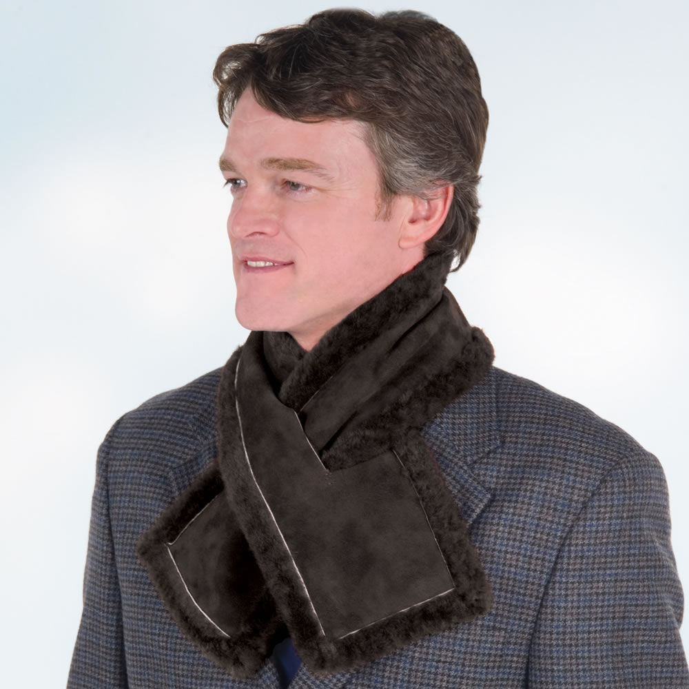 The Somerset Shearling Neck Warmer2