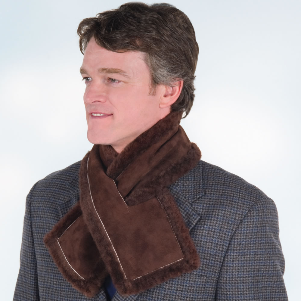 The Somerset Shearling Neck Warmer1