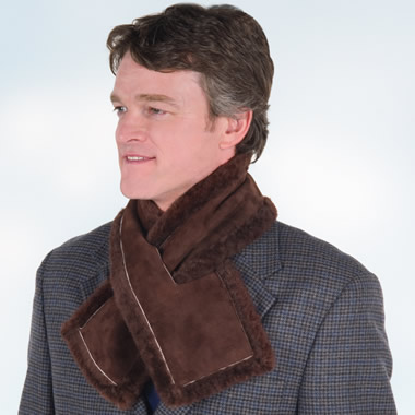The Somerset Shearling Neck Warmer.