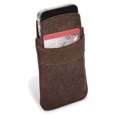 The Bison Leather iPhone Sleeve.
