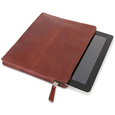 The Genuine Elk Leather iPad Sleeve.