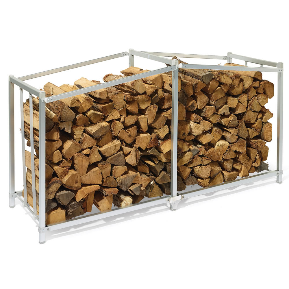 The Foldaway Firewood Rack - Hammacher Schlemmer