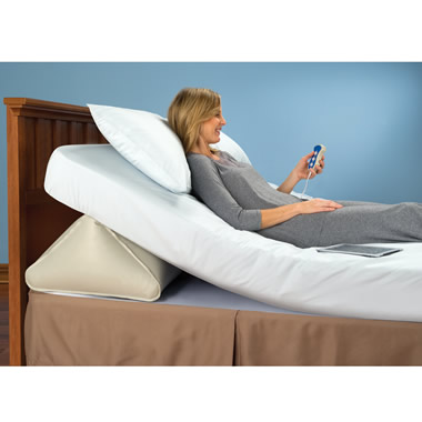 The Remote Controlled Adjustable Incline Mattress Wedge.