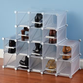 The Configurable Cubic Shoe Rack.