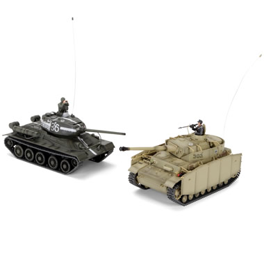 The Remote Controlled Authentic WWII Battling Tanks.