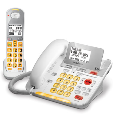 The Cordless Large View Telephone.