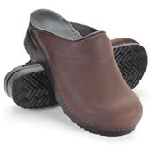 The Back Pain Relieving Danish Clogs (Black).