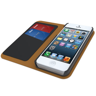 The iPhone 5 Leather Wallet.