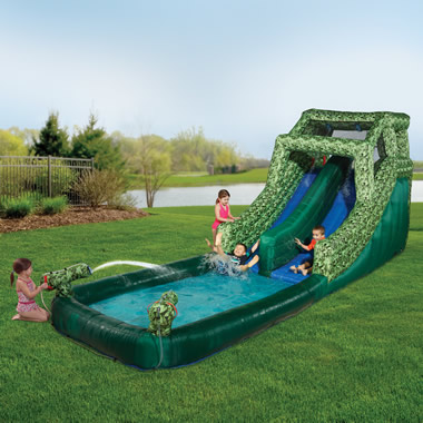 The Two-Minute Inflatable Jungle Slide.