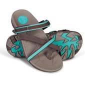 The Lady's Plantar Fasciitis Sports Sandals (Chocolate).