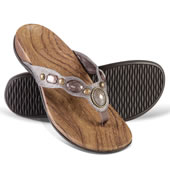 The Lady's Plantar Fasciitis Jeweled Sandals.