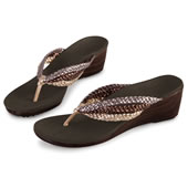 The Lady's Plantar Fasciitis Wedge Sandals.