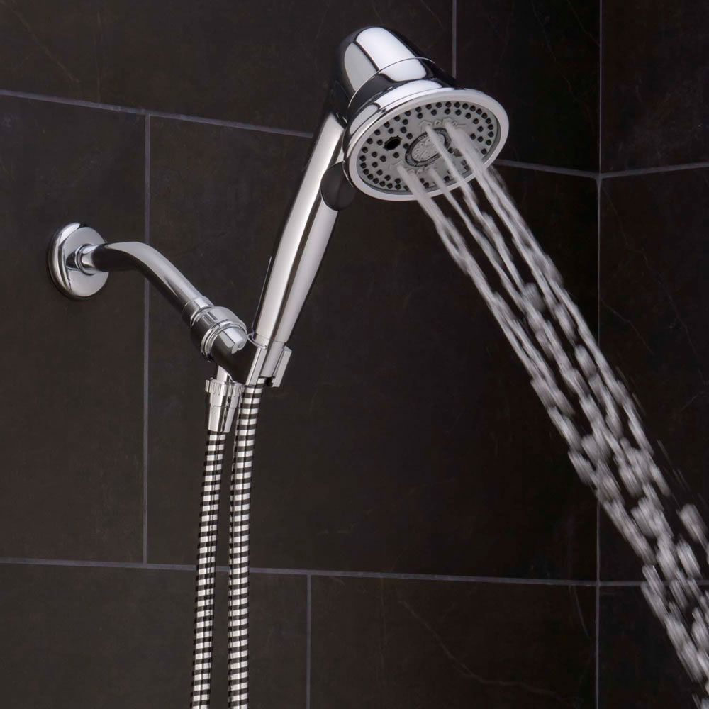 The Pressure Boosting And Clog Preventing Handheld Showerhead 4