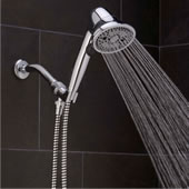 The Pressure Boosting And Clog Preventing Handheld Showerhead.