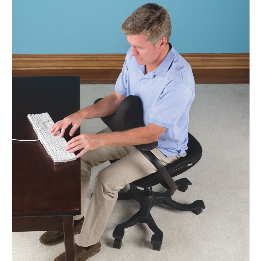 the optimal posture office chair - hammacher schlemmer