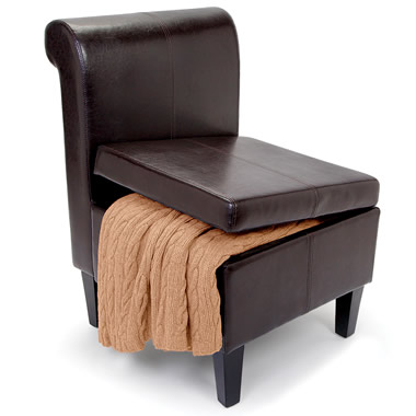 The Clutter Storing Accent Chair.