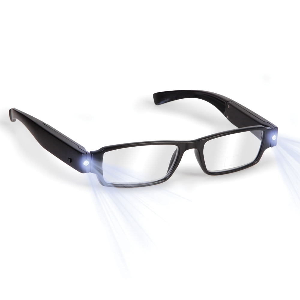 the rechargeable led reading glasses hammacher schlemmer