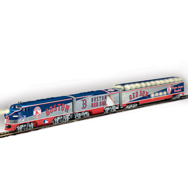 The Major League Baseball Team Train Set.