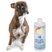 The Only Pet Stain Pheremone Removing Solution.