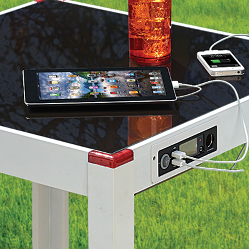 The Device Charging Patio Table 2