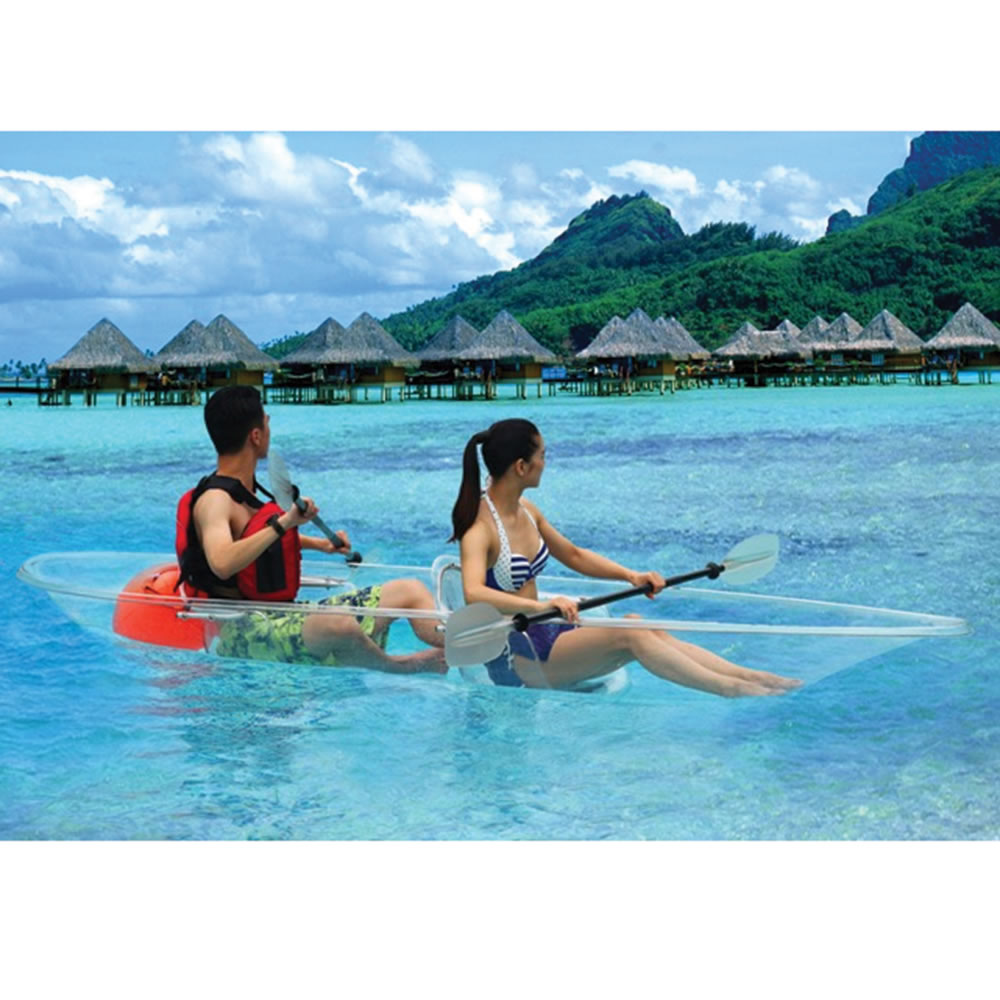 Transparent Canoe Kayak The Transparent Canoe Kayak Hammacher Schlemmer