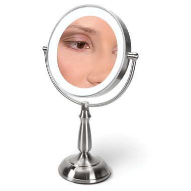 The 12X Magnification Vanity Mirror.