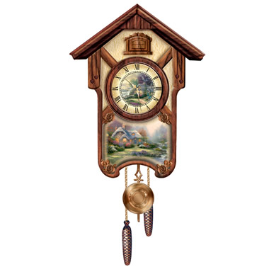 The Thomas Kinkade Cuckoo Clock.